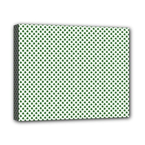 Shamrock 2 Tone Green On White St Patrick?¯s Day Clover Canvas 10  X 8