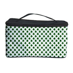 Shamrock 2-Tone Green on White St.Patrick?¯s Day Clover Cosmetic Storage Case