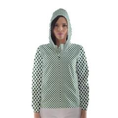 Shamrock 2-Tone Green on White St.Patrick?¯s Day Clover Hooded Wind Breaker (Women)
