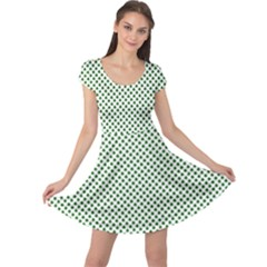 Shamrock 2-Tone Green on White St.Patrick?¯s Day Clover Cap Sleeve Dresses