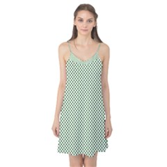 Shamrock 2-Tone Green on White St.Patrick?¯s Day Clover Camis Nightgown