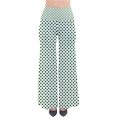 Shamrock 2-Tone Green on White St.Patrick?¯s Day Clover Pants