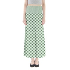 Shamrock 2-Tone Green on White St.Patrick?¯s Day Clover Maxi Skirts