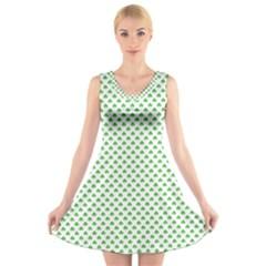46293021 V-Neck Sleeveless Skater Dress