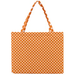 White Heart-Shaped Clover on Orange St. Patrick s Day Mini Tote Bag