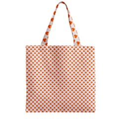 Orange Heart-Shaped Clover on White St. Patrick s Day Zipper Grocery Tote Bag
