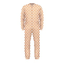 Orange Heart-Shaped Clover on White St. Patrick s Day OnePiece Jumpsuit (Kids)