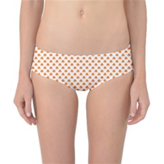 Orange Heart-Shaped Clover on White St. Patrick s Day Classic Bikini Bottoms