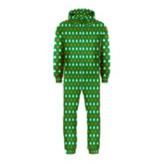 Orange & White Heart-Shaped Clover on Green St. Patrick s Day Hooded Jumpsuit (Kids)