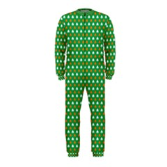 Orange & White Heart-Shaped Clover on Green St. Patrick s Day OnePiece Jumpsuit (Kids)