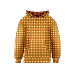 Heart-Shaped Clover Shamrock On Orange St. Patrick s Day Kids  Pullover Hoodie