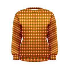 Heart-Shaped Clover Shamrock On Orange St. Patrick s Day Women s Sweatshirt