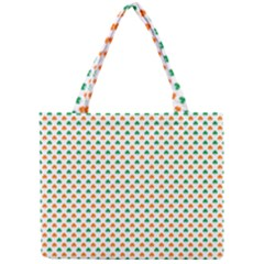 Orange And Green Heart-Shaped Shamrocks On White St. Patrick s Day Mini Tote Bag