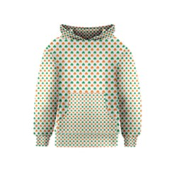 Orange And Green Heart-Shaped Shamrocks On White St. Patrick s Day Kids  Pullover Hoodie