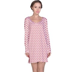Lipstick Red Kisses Lipstick Kisses Long Sleeve Nightdress