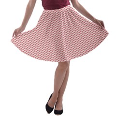 Lipstick Red Kisses Lipstick Kisses A-line Skater Skirt