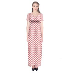 Lipstick Red Kisses Lipstick Kisses Short Sleeve Maxi Dress