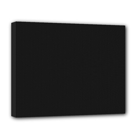 Black and Grey Perforated PInhole Carbon Fiber Deluxe Canvas 20  x 16