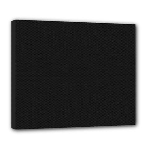 Black and Grey Perforated PInhole Carbon Fiber Deluxe Canvas 24  x 20