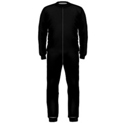 Black and Grey Perforated PInhole Carbon Fiber OnePiece Jumpsuit (Men)