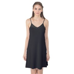 Black and Grey Perforated PInhole Carbon Fiber Camis Nightgown