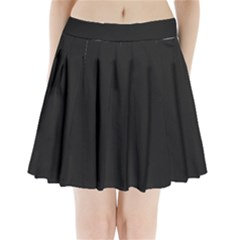 Black and Grey Perforated PInhole Carbon Fiber Pleated Mini Skirt