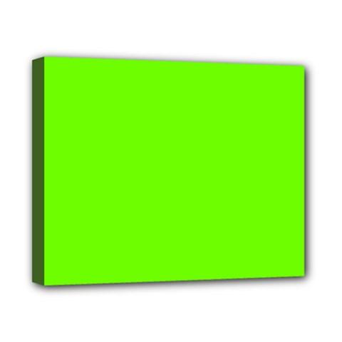 Super Bright Fluorescent Green Neon Canvas 10  x 8