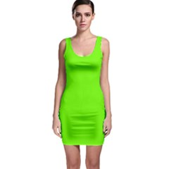 Super Bright Fluorescent Green Neon Sleeveless Bodycon Dress