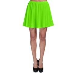 Super Bright Fluorescent Green Neon Skater Skirt