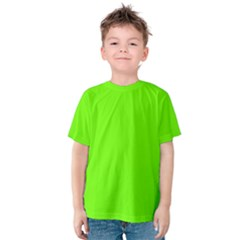 Super Bright Fluorescent Green Neon Kids  Cotton Tee