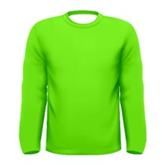 Super Bright Fluorescent Green Neon Men s Long Sleeve Tee