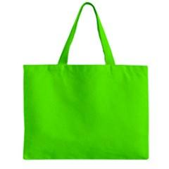 Super Bright Fluorescent Green Neon Zipper Mini Tote Bag