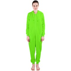 Super Bright Fluorescent Green Neon Hooded Jumpsuit (Ladies)