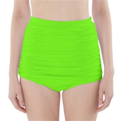 Super Bright Fluorescent Green Neon High-Waisted Bikini Bottoms