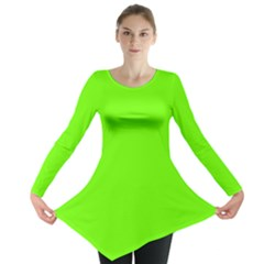 Super Bright Fluorescent Green Neon Long Sleeve Tunic
