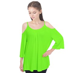 Super Bright Fluorescent Green Neon Flutter Tees