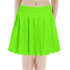 Super Bright Fluorescent Green Neon Pleated Mini Skirt