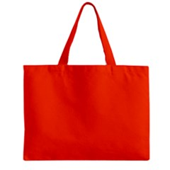 Bright Fluorescent Attack Orange Neon Zipper Mini Tote Bag