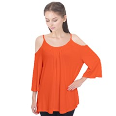 Bright Fluorescent Attack Orange Neon Flutter Tees