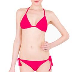 Super Bright Fluorescent Pink Neon Bikini Set