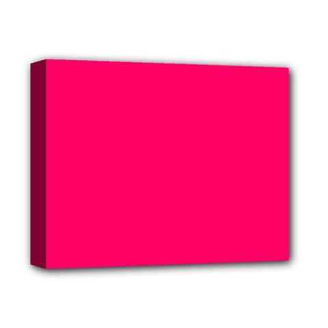 Super Bright Fluorescent Pink Neon Deluxe Canvas 14  x 11