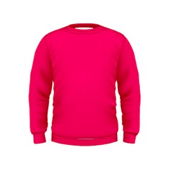 Super Bright Fluorescent Pink Neon Kids  Sweatshirt