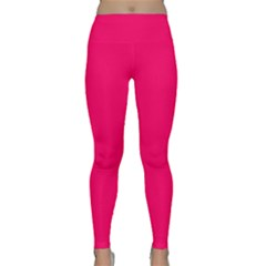 Super Bright Fluorescent Pink Neon Classic Yoga Leggings