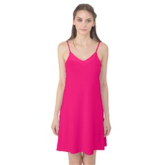 Super Bright Fluorescent Pink Neon Camis Nightgown