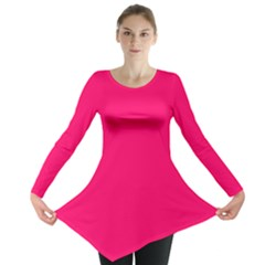 Super Bright Fluorescent Pink Neon Long Sleeve Tunic