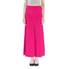 Super Bright Fluorescent Pink Neon Maxi Skirts