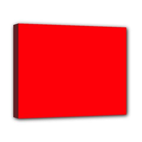 Bright Fluorescent Fire Ball Red Neon Canvas 10  x 8