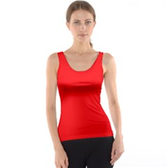 Bright Fluorescent Fire Ball Red Neon Tank Top