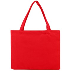 Bright Fluorescent Fire Ball Red Neon Mini Tote Bag
