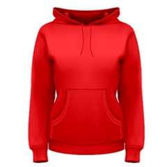 Bright Fluorescent Fire Ball Red Neon Women s Pullover Hoodie